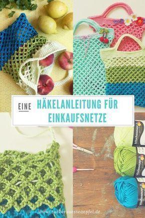 Häkelanleitung für ein Einkaufsnetz – Petra Egginger