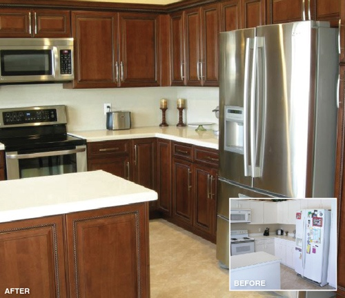 Refaced kitchen cabinets from Home Depot. 1000  images about Refacing before and after on Pinterest