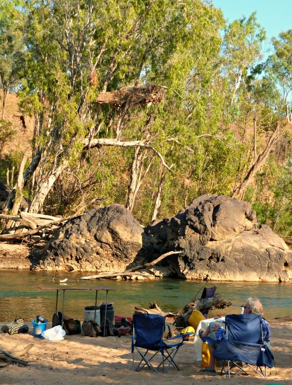 Afternoon camp spot on the banks of the Katherine River, NT.