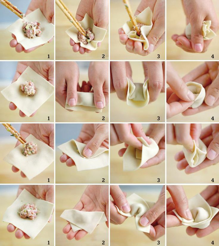 Steps for Making Wantons