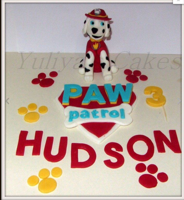 Edible Paw Patrol inspired cake topper,dog,name,number,handmade,boy,girl,tv programme by Yulcakes on Etsy https://www.etsy.com/listing/236988330/edible-paw-patrol-inspired-cake