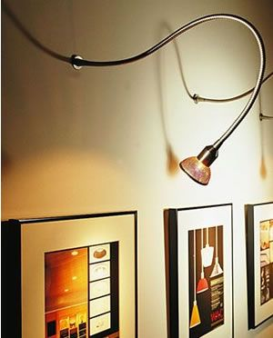 101 best picture lights clamp on display lights for wac surface mounted low voltage flexible light mm 204 shown with mbs16 mesh bulb aloadofball Gallery
