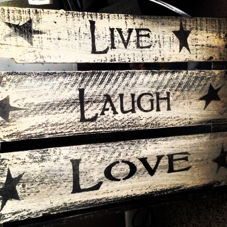 Live, laugh, love wooden crate