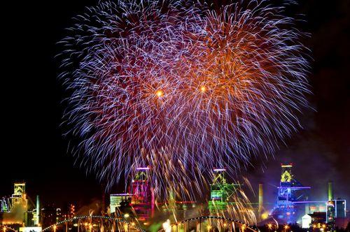 Pohang International Fireworks Festival (포항 국제불빛축제), Pohang-si, Gyeongsangbuk-do