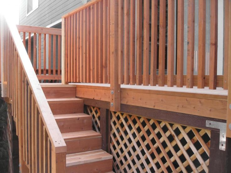 Exterior:Exterior Lovely Deck With Stair For Outdoor Living Space Decorating Design Ideas Solid Wood Handrail And Wood Step Staircase Outsta...