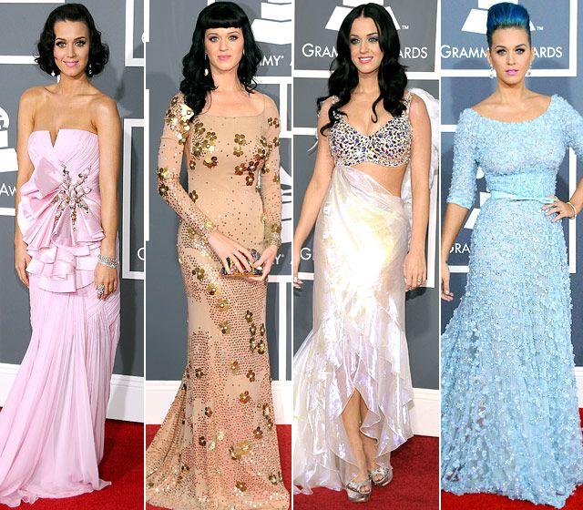 #KatyPerry's #Grammy looks: 2009-2012
