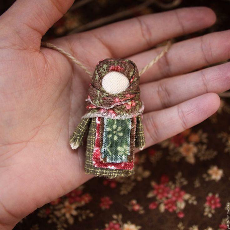 """Купить Куколка-украшение """" Лесная"""" по мотивам народной куклы - комбинированный, народная кукла"""