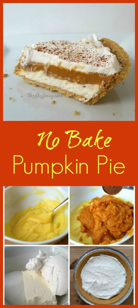 There's no need to turn on the oven to make this No Bake Pumpkin Pie Recipe with a pumpkin layer is sandwiched between cream cheese/whipped cream layers.