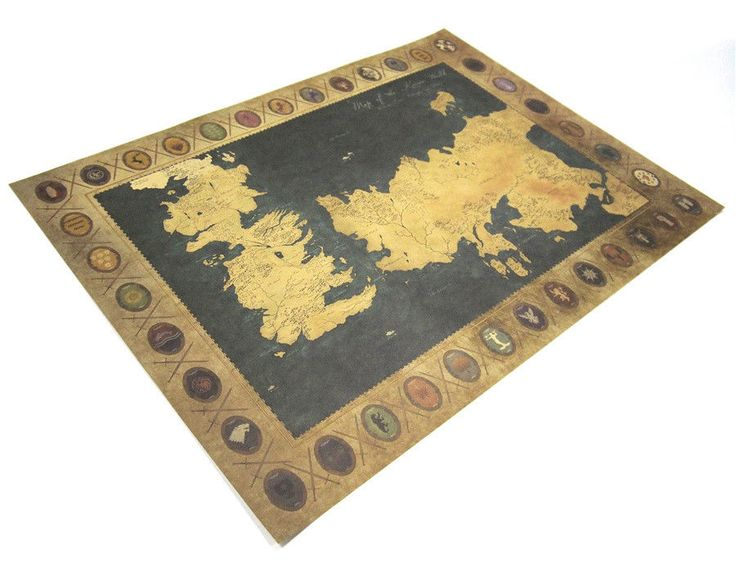 7 mejores imgenes de new game of thrones got vintage world map game of thrones vintage world map poster retro wall art sticker gumiabroncs Images