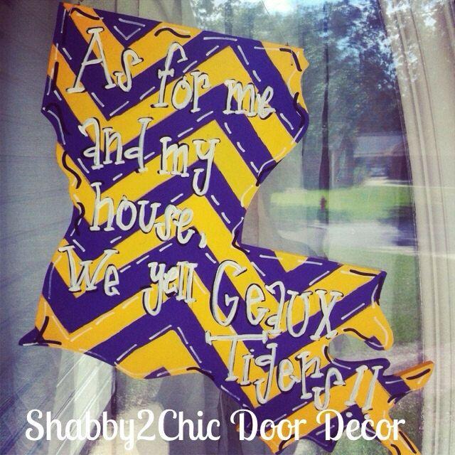 Geaux Tigers Door Hanger LSU Door Decor By Shabby2ChicDoorDecor, $45.00
