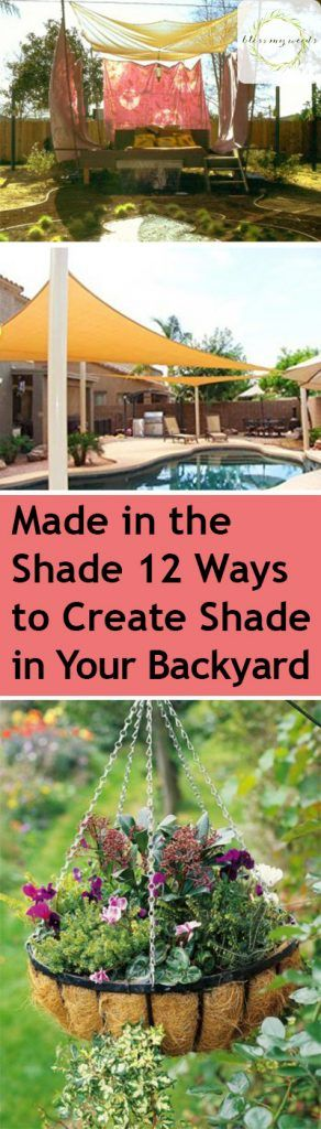 Summertime is the best time for hanging out in the backyard. But sadly, that often comes with blistering heat that makes you want to stay inside. What is an outdoor lover to do? Take every opportunity to sit in (and... #backyardshade #easywaystocreatebackyardshade #howtocreateshadeinyouryard