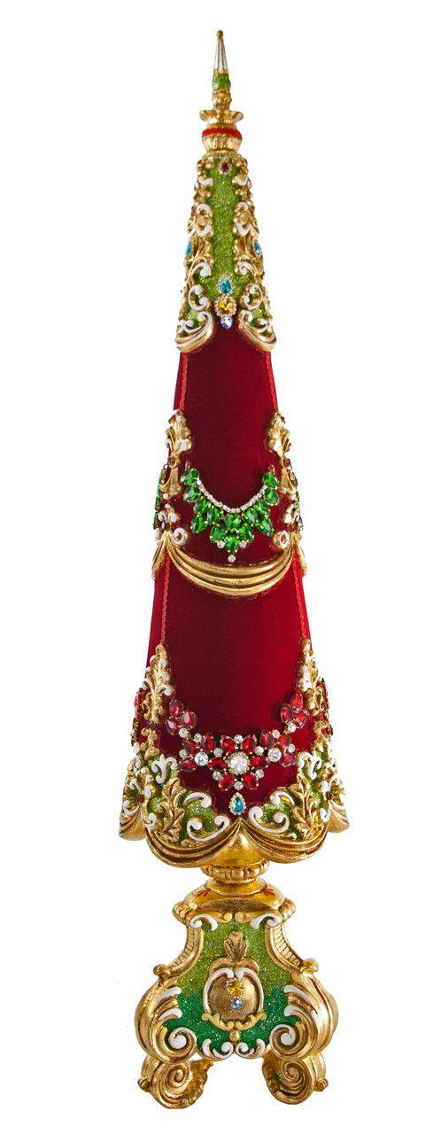 "Katherine's Collection Noel Christmas Collection Large 38"" Jeweled Christmas Tree Free Ship"