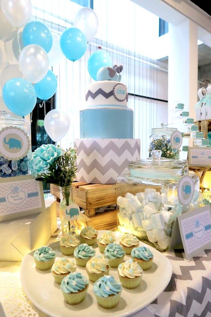 Baby Shower Decorations In Kissimmee ~ Modern elephant baby shower