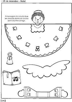 Sala de Aula - Profª Rérida: Anjos para montar - Natal