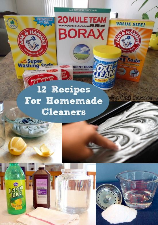 12 Easy Recipes for Homemade Cleaners - get your supplies at the dollar store!