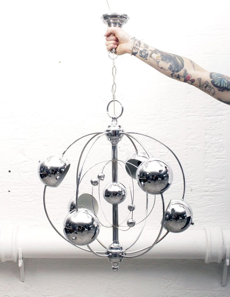 Chrome Ball Cosmos Chandelier