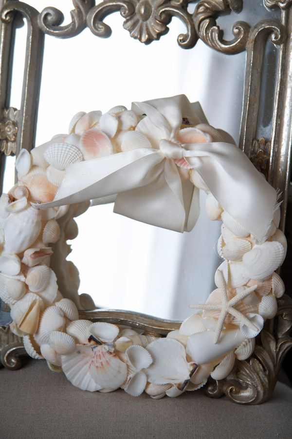 DIY-Beautiful Seashell Wreath Easy Photo Tutorial by  Just a Smidgen