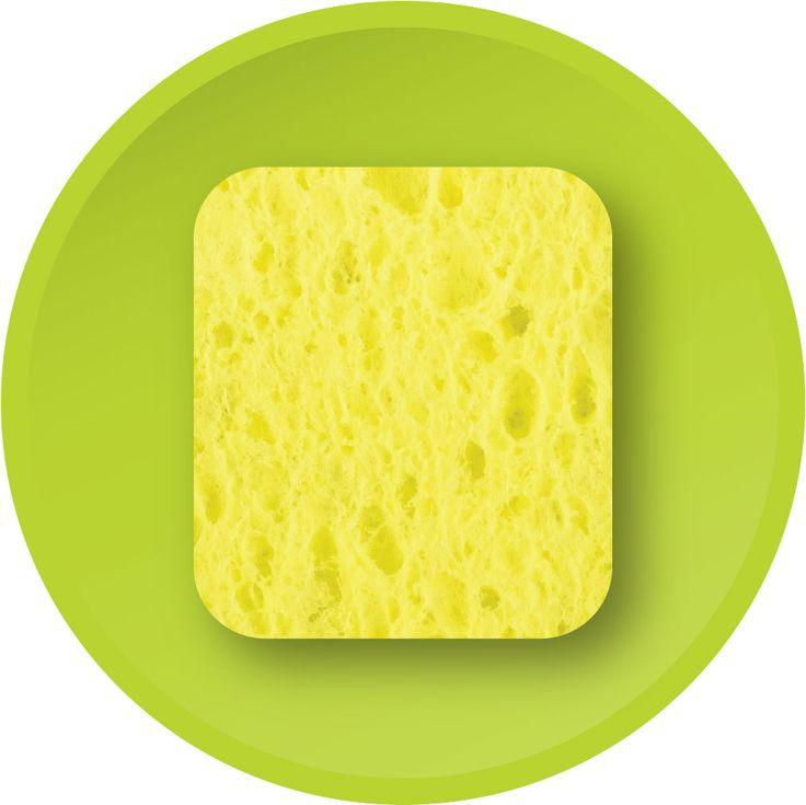 3M sponge (o-cel-o)...made of cellulose foam?
