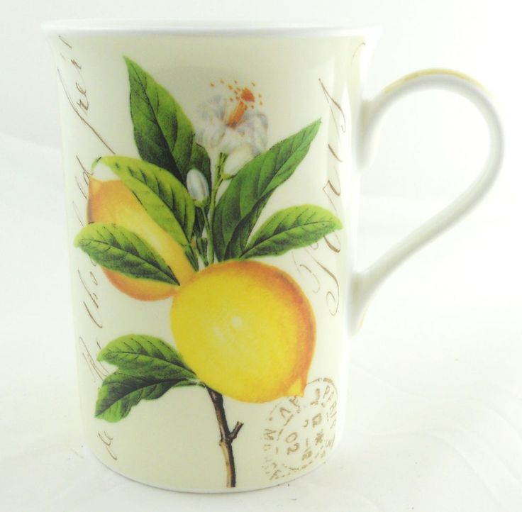 The Mug Coffee >> Paula Scaletta for Nuova R2S Coffee Mug Fine Bone China Lemons French Paris