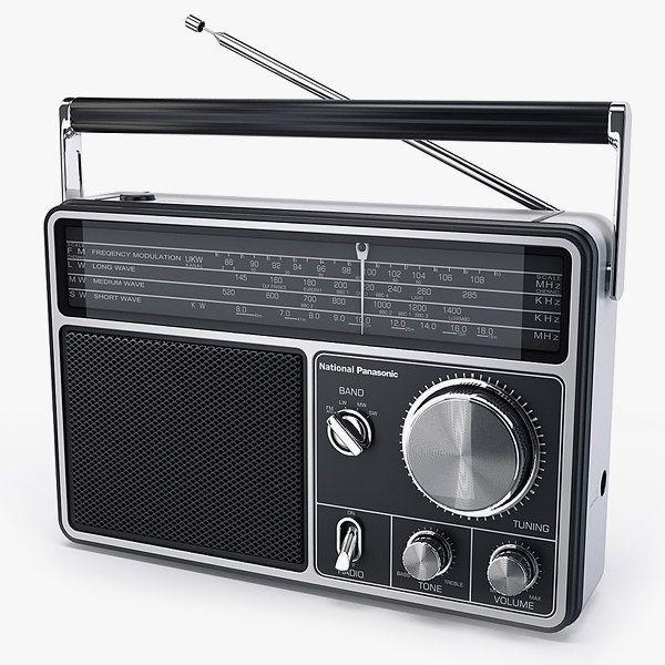 Radio National Panasonic Rf1090 3D Model - 3D Model