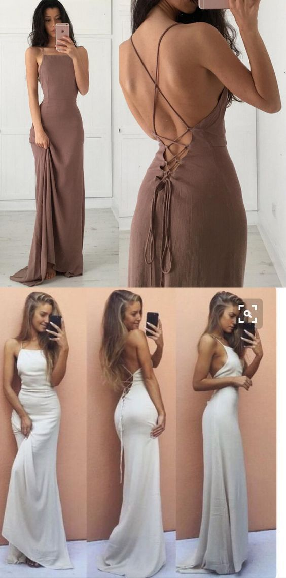 Long Prom Dress Y Formal Green Brown Evening White Mermaid In 2018 Xitlalli Pinterest Dresses