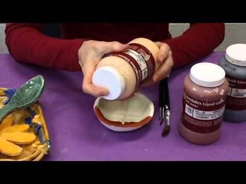 How to glaze demo: Art Videos, Ceramics Glaze, Clay Pottery, Glaze Pottery, Glaze Clay, Pottery Glaze, Glaze Bisque, Demo Great Videos, Art Clay