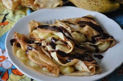 Кокосовые блинчики с бананом и корицей