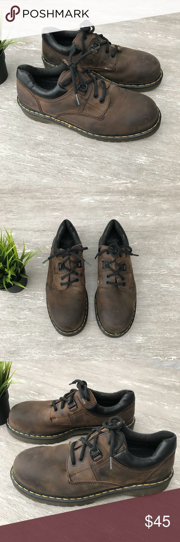 Dr. Martens Air Wair Steel Toe Work Shoes Dr. Martens Air Wair Industrial Men's Work Shoes   Steel Toe Safety Toe  Slip Resistant   Size: 11  Very Good Condition, light Scuffs Dr. Martens Shoes