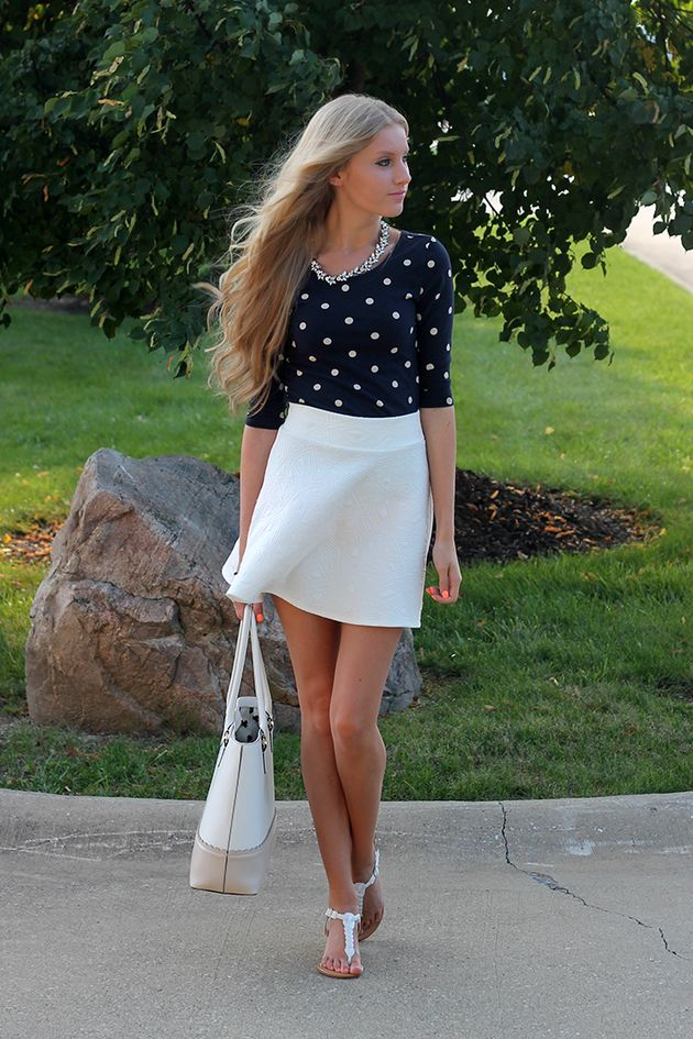 Navy And White Polka Dot Blouse  # #Life with Lyss #Summer/Pre Fall Trends #It-Girl #Best Of Summer/Pre Fall Apparel #Blouse Polka Dot #Polka Dot Blouses #Polka Dot Blouse Navy and White #Polka Dot Blouse Clothing #Polka Dot Blouse 2014 #Polka Dot Blouse Apparel #Polka Dot Blouse How To Style