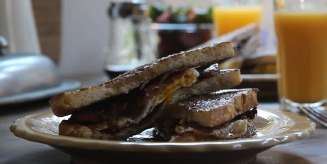 French Egg and Bacon Sandwich Allrecipes.com