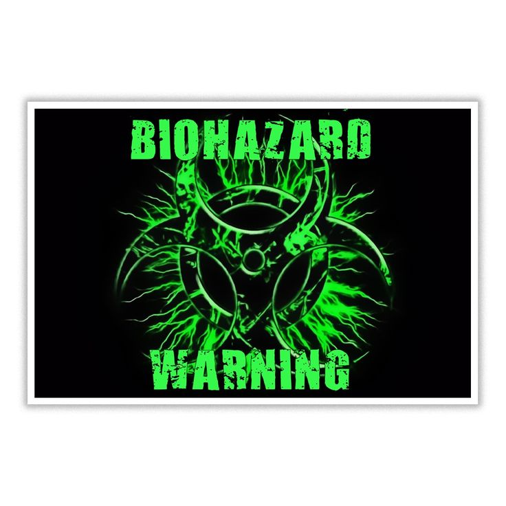 #Biohazard warning #green and #black toxic #fallout sign symbol #poster grunge postapo style