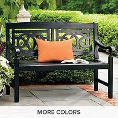 Outdoor Benches - Wood Benches - Metal Benches - Grandin Road