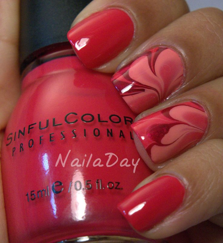 Nail a Day: Sinful Colors Folly Watermarble