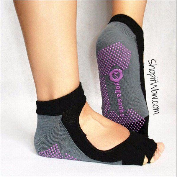 Yoga Socks Toeless Socks Best Grip Socks Five Toe Socks