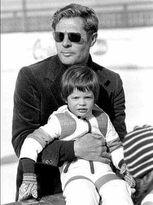 Marcello Mastroianni e daughter avec Catherine Denueve - Chiara Mastroianni, 1976
