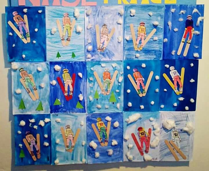 Winter Olympics art project