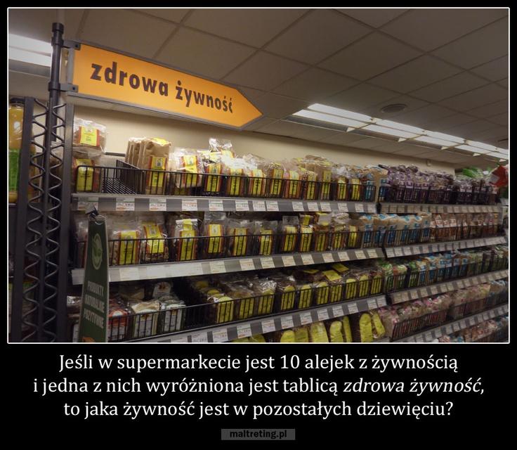Czyżby to jakiś podprogowy przekaz od odczuwających podprogowe wyrzuty sumienia właścicieli supermarketów?