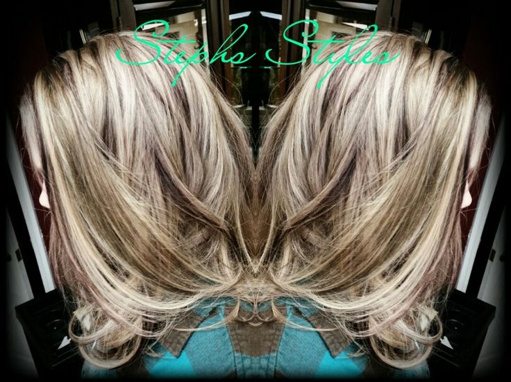 White chocolate Blond with Deep Red/Violet and Dark Chocolate Lowlights <3 #Blond #Hair #Highlights #Lowlights #haircolor #Sexy #Fashion