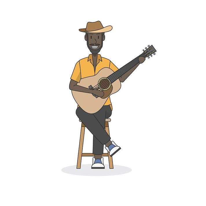 Illustration Of An Acoustic Guitar Player Free Image By Rawpixel Com Acoustic Guitar Guitar Player Guitar Illustration
