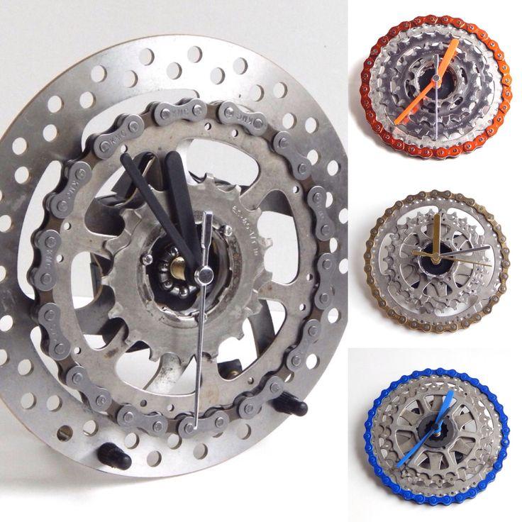 recycled bike bicycle clocks for walls u0026 desks by recycle u0026 bicycle