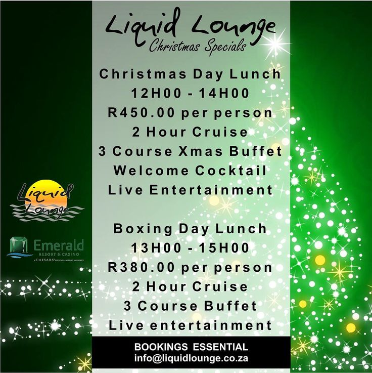 Might seem early but we already have guests inquiring about our Christmas events :-) have a peak at our annual #Christmas Specials for 2015. Bookings essential