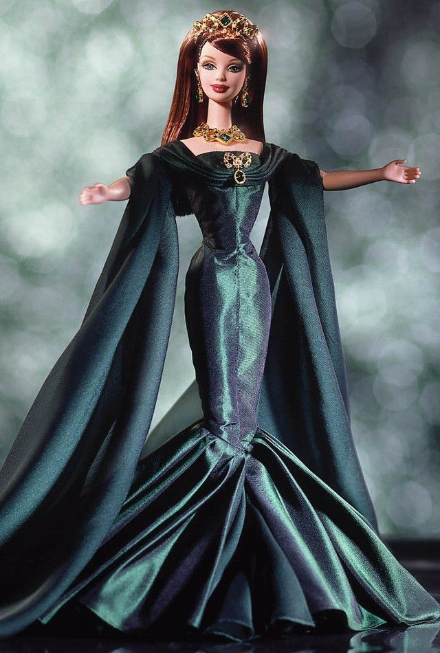 Empress of Emeralds™ Barbie® Doll | Barbie Collector - This collection (sold in an infomercial) is what started my love of Barbie collectibles.