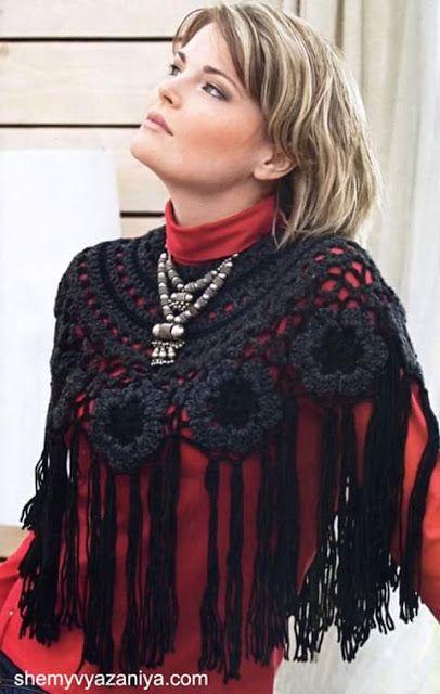 Galería: Elegantes chales tejidos para toda ocasión. | CTejidas [Crochet y Dos Aguja