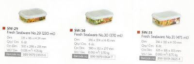 Selatan Jaya distributor barang plastik Surabaya: toples atau tepak Fresh sealware plastik Sw 29 mer...