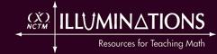 Scatterplot activity from NCTM Illuminations website