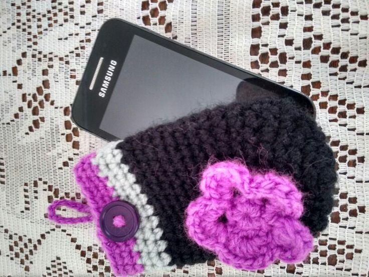 Porta celular...crochet
