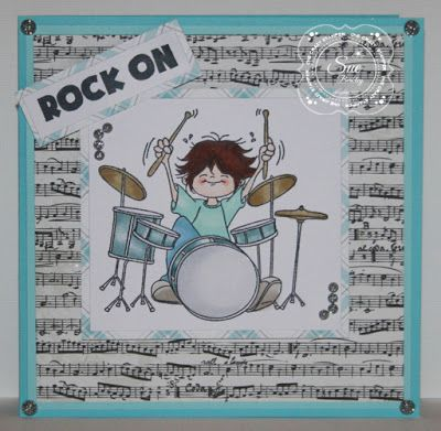 """ONECRAZYSTAMPER.COM: Rock On..... by Sue using High Hopes Stamps """"Rocking Out"""" (TT025)"""