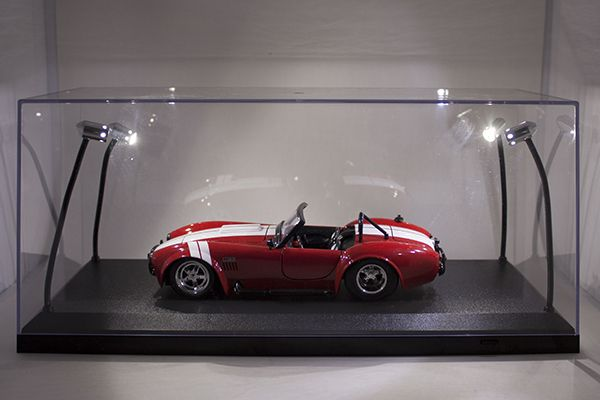 Exhibition Light D Model : Legacy motors n a led lighted acrylic display case for