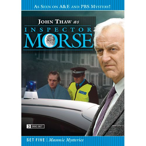 Inspector Morse Set Five Masonic Mysteries DVD he Wolvercote Tongue - A precious jewel is missing and Morse suspects foul play in the death of its owner. Stars Simon Callow and Kenneth Cranham .  Last Seen Wearing - When a privileged schoolgirl goes missing, Morse is convinced she has been murdered, even though there is no body. Stars Elizabeth Hurley and Peter McEnery .  The Settling of the Sun - Morse investigates the murder of a Japanese student in what seems to be a ritual killing. Stars…