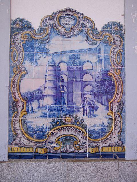 Painel de Azulejos: Arcos Cruzados do Aqueduto - Elvas | Flickr – Compartilhamento de fotos!